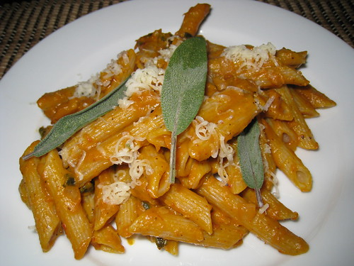 Penne with Pumpkin and Sage Sauce | by Kevin - Closet Cooking