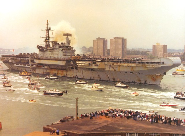 Today in history � joyous homecoming for Falklands flagship