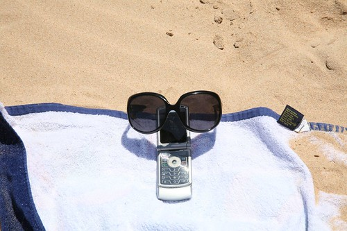 Phone at the beach | by jsarcadia