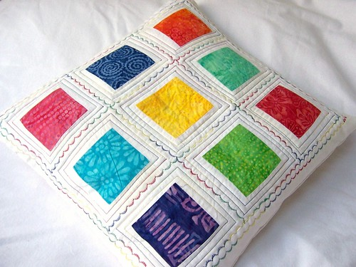 I Can See a Rainbow - Patchwork Cushion Cover | by saysie