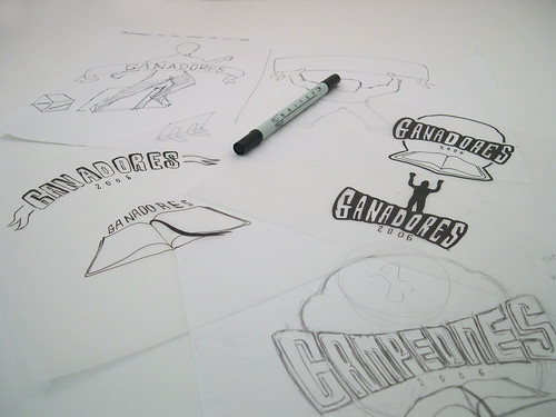 Ganadores logo sketches | by Marco Creates