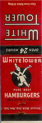 Vintage White Tower matchbook | by Vintage Roadside