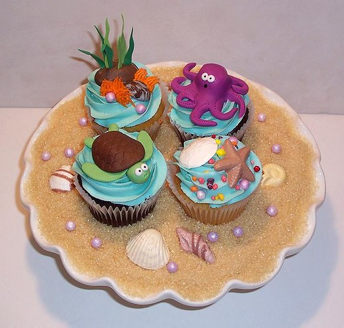 Under the Sea Cupcakes | by marj.theicingonthecake