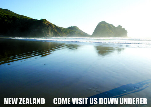 New Zealand Come Visit Us Down Underer Cmyk A3 Poster