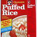 1981 Quaker Puffed Rice Cereal Box Front
