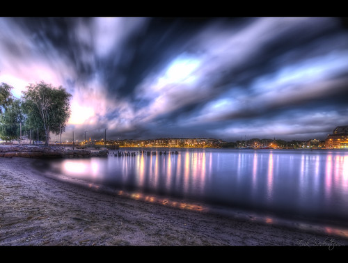 Nighttime Beach HDR | by mescon