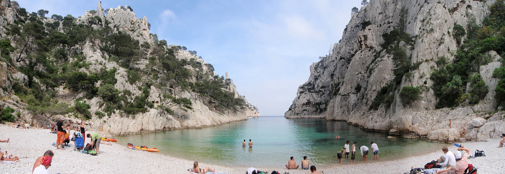 En Vau - Calanques full view pano
