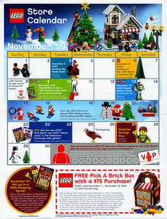 LEGO Store Calendar November '09 - Front | by TooMuchDew