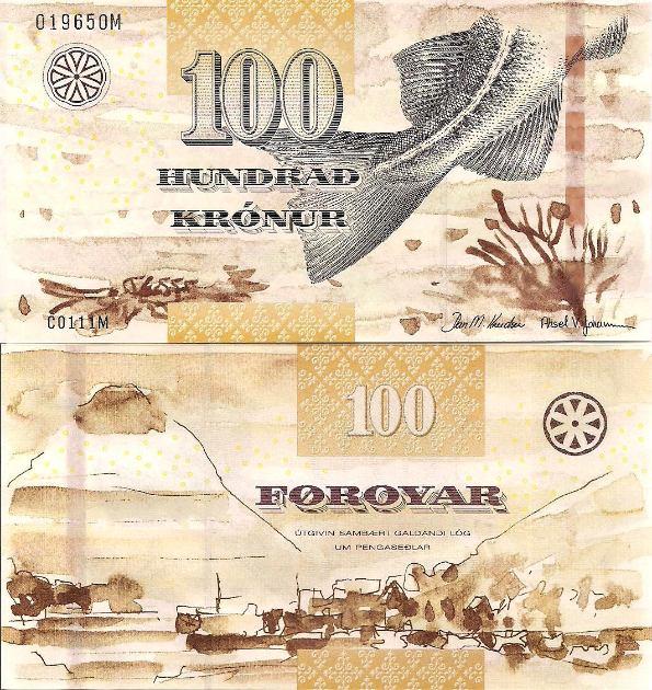 100 Krónur Faerské ostrovy 2011, Pick 30