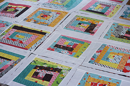 Flea Market Fancy wonky log cabin quilt blocks | by oldredbarnco