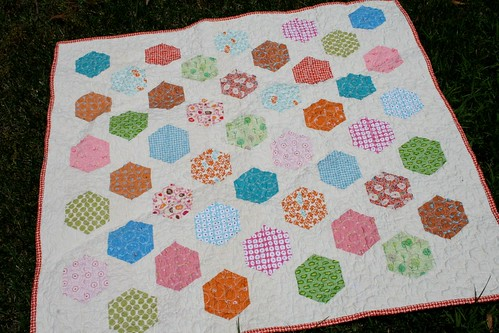 Hexagon Baby Quilt | by alissahcarlton