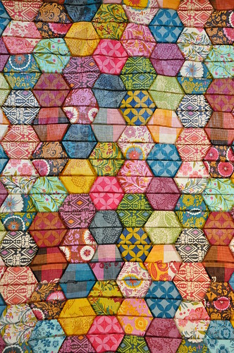 half hexagon quilt | by batixa