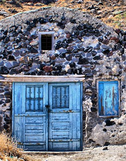 Waterfront building, Thirasia, Santorini | by David Spender