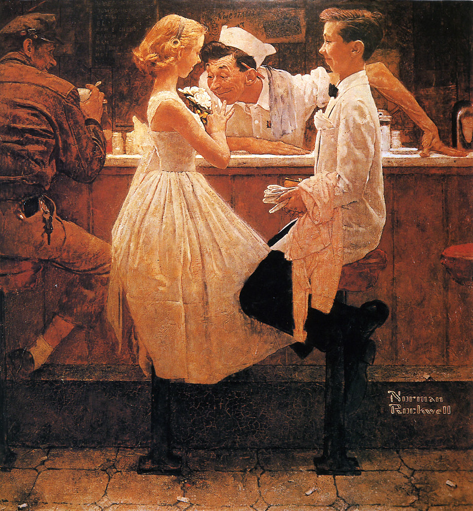 norman rockwell art of flickr photo sharing