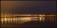 A long exposure of lots of tea-time traffic crossing the bridge over the Tay by stuant63
