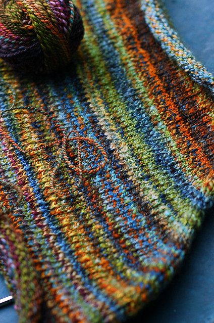 Knitting With Handspun Yarns Patterns : Handspun funnel neck sweater flickr