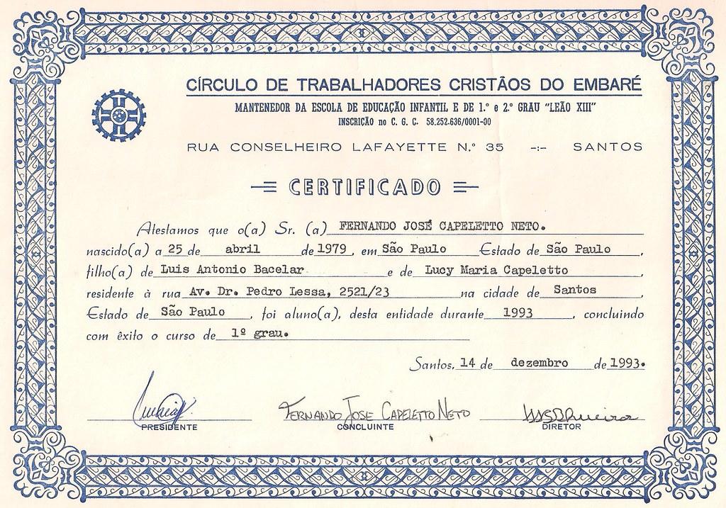 Diploma De Segundo Grau