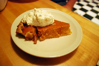 Homemade pumpkin pie with homemade whipped cream | by queenofthemoodswingset2