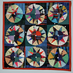 Recycled Ballroom 'suitcase' quilt by mybearpaw