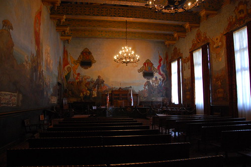 The magnificent mural room in santa barbara courthouse for Mural room santa barbara