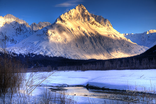 magnificent mountain sunset hdr - photo #24