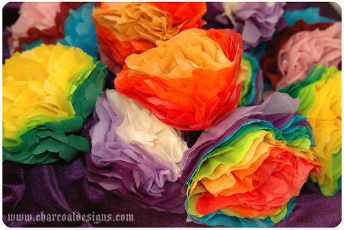 Mexican Paper Flowers | by charcoaldesigns