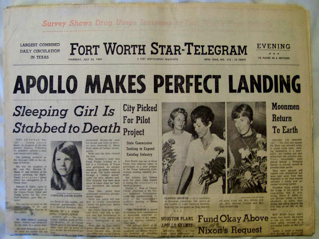 1969 newspaper moon mission - photo #23