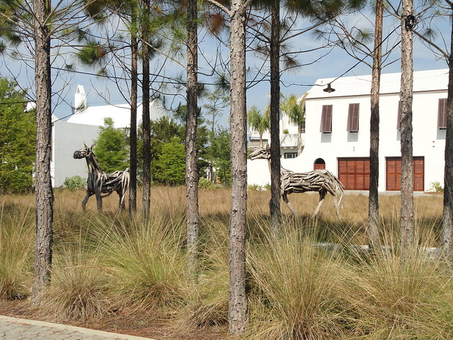 Driftwood Horses by Heather Jansch at Alys Beach 30A