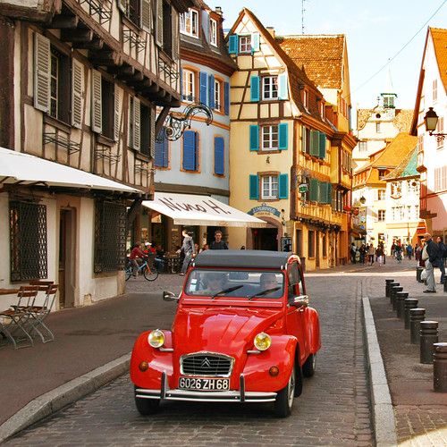 Red Citroën in Colmar - France | by Nino H