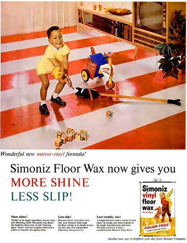 Simoniz Floor Wax Advertisement - Ebony Magazine, April, 1960 | by vieilles_annonces