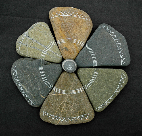 six triangular stones | by Jos van Wunnik