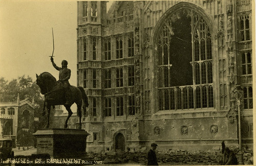 Richard I statue: Second World War damage | by UK Parliament