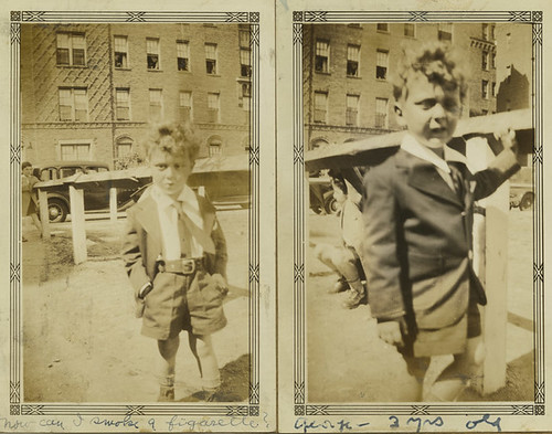 Two connected photographs of a young boy named George | by Center for Jewish History, NYC