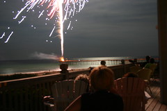 Watching fireworks at the beach by supersaxtons
