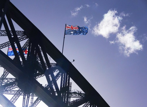Australian & NSW Flags - Sydney Harbour Bridge | by neeravbhatt