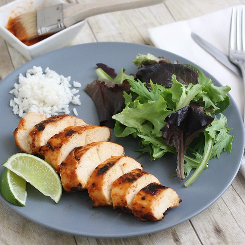 Grilled Chicken with Peach BBQ Sauce | by Tracey's Culinary Adventures