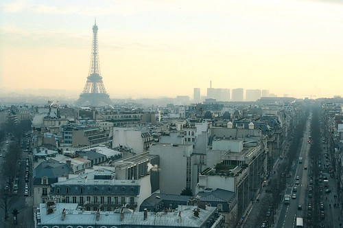 4. //60/9c/912/48.f - Eiffel Tower from The Arc de Triomphe, Paris 1996 | by EUROVIZION