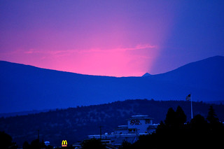 Fire sunset oregon mcdonalds | by GoodNCrazy