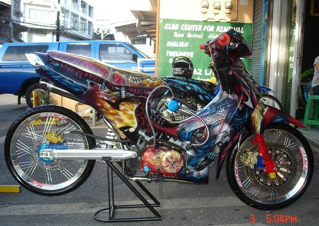 Honda wave 125 airbrush flickr