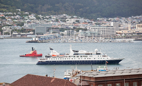 MV ORION and TOIA approaching wharf | by lancea