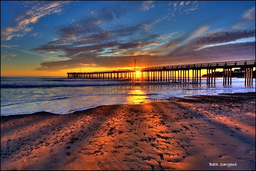 Sun Rays Through The Pier | by Beth Sargent