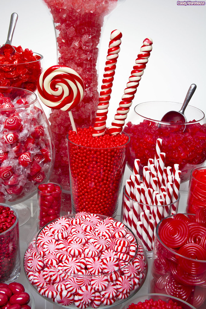 Red candy buffets flickr