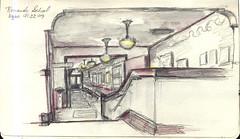 Portland, Oregon - SketchCrawl at the Kennedy School (NaNoDrawMo #38) by geminica