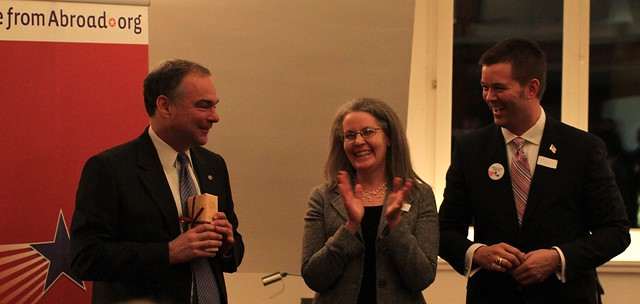 Governor Kaine, Christine Schon-Marques and Michael Copping