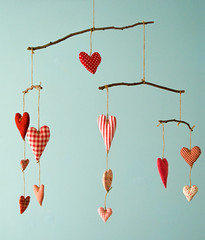 Heart Mobile | by PatchworkPottery