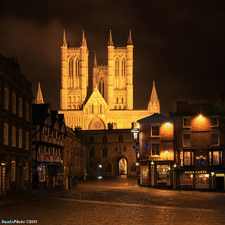 Lincoln cathedral and Exchequer Gait, Lincoln | by SwaloPhoto