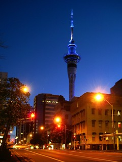 Sky Tower, viewed from Albert St. | by blue polaris