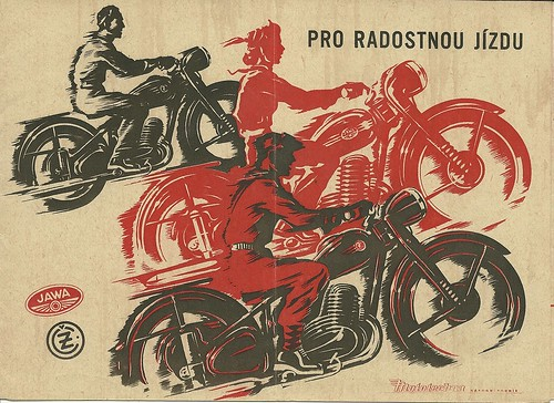 Jawa and CZ motorcycle brochure, 1953 | by Hugo90