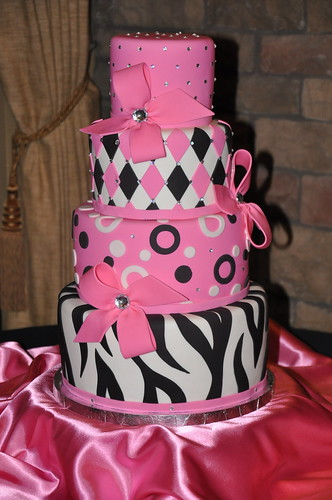 Pink & Black Birthday CAke | by Designer Cakes By April