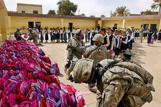 Pink backpacks in Afghanistan | by The U.S. Army